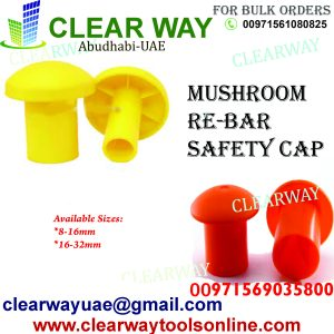 MUSHROOM RE BAR SAFETY CAP DEALER IN MUSSAFAH , ABUDHABI ,UAE BY CLEARWAY