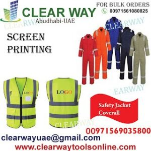 SCREEN PRINTING IN MUSSAFAH , ABUDHABI ,UAE BY CLEARWAY