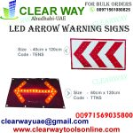 LED ARROW WARNING SIGNS DEALER IN MUSSAFAH , ABUDHABI , UAE BY CLEARWAY